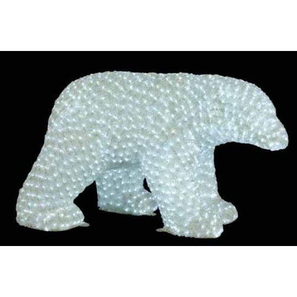 Χριστουγεννιάτικη Φωτιζόμενη Ακρυλική Αρκούδα με 1550 LED (1,1m)