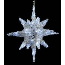 Χριστουγεννιάτικο Φωτιζόμενο Ακρυλικό Αστέρι Οροφής, LED (32cm)