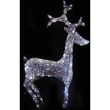 Χριστουγεννιάτικο Φωτιζόμενο Ακρυλικό Ελάφι, Crystal LED (50cm)