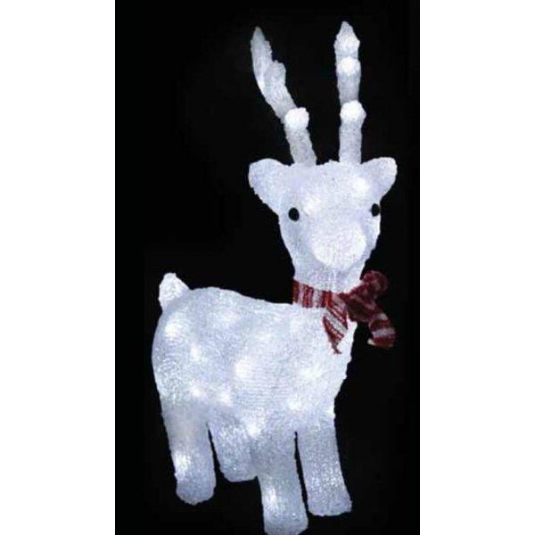 Χριστουγεννιάτικο Φωτιζόμενο Ακρυλικό Ελάφι 3D, με 100 LED (50cm)