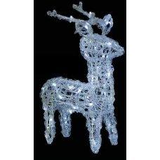 Χριστουγεννιάτικο Φωτιζόμενο Ακρυλικό Ελάφι, με 80 LED (25cm)