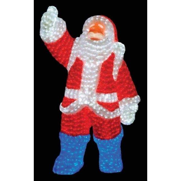Χριστουγεννιάτικος Φωτιζόμενος Ακρυλικός Άγιος Βασίλης με 2300 LED (1,2m)