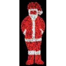 Χριστουγεννιάτικος Φωτιζόμενος Ακρυλικός Άγιος Βασίλης με LED (1.6m)