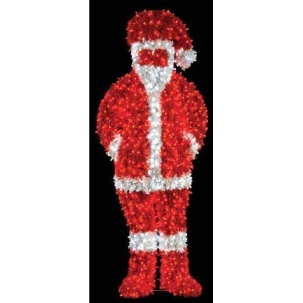 Χριστουγεννιάτικος Φωτιζόμενος Ακρυλικός Άγιος Βασίλης με LED (2.3m)