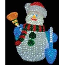 Χριστουγεννιάτικος Φωτιζόμενος Ακρυλικός Χιονάνθρωπος με 2700 LED (1.2m)