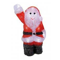 Χριστουγεννιάτικος Φωτιζόμενος Ακρυλικός Άγιος Βασίλης, με 16 LED (22cm)