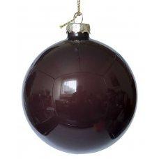 Χριστουγεννιάτικη Γυάλινη Μπάλα, Καφέ Σκούρο (10cm)
