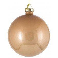 Χριστουγεννιάτικη Γυάλινη Μπάλα Μπεζ (8cm)