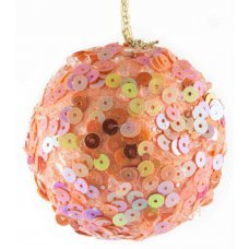 Χριστουγεννιάτικη Μπάλα Πορτοκαλί, με Πούλιες (6cm)