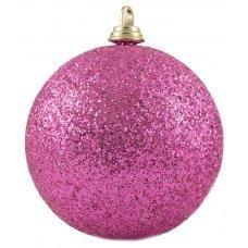 Χριστουγεννιάτικη Μπάλα Φούξια με Στρας (6cm)