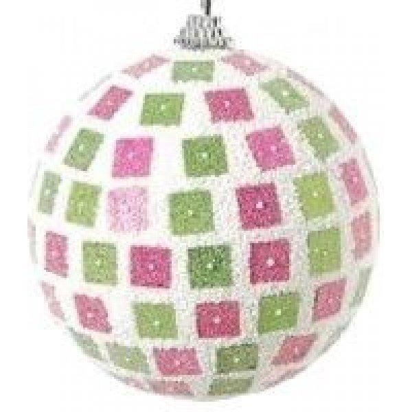 Χριστουγεννιάτικη Μπάλα με Πολύχρωμα Κουτάκια (10cm)