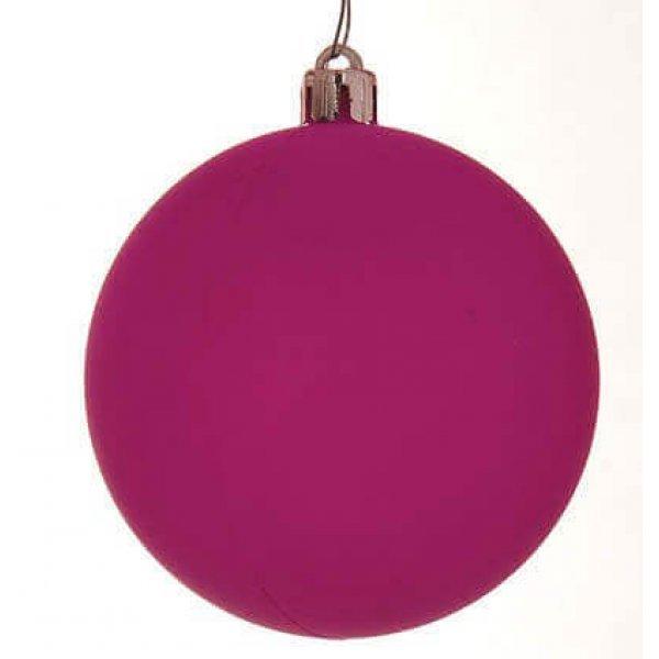 Χριστουγεννιάτικη Μπάλα Μωβ - Νέον (10cm)