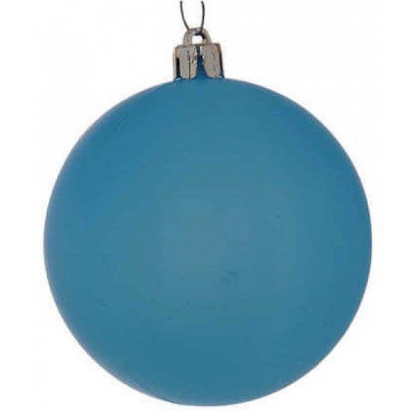 Χριστουγεννιάτικη Μπάλα Μπλε - Νέον (10cm)