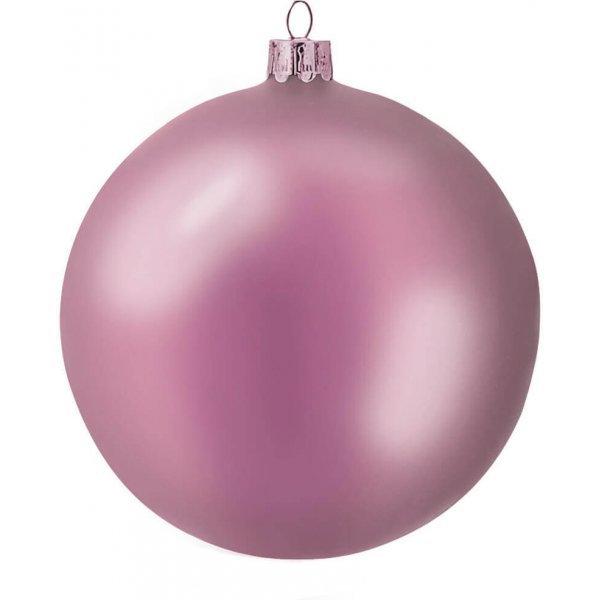 Χριστουγεννιάτικη Μπάλα Πλαστική Ροζ (10cm)