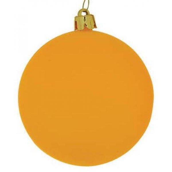 Χριστουγεννιάτικη Μπάλα Ποπρτοκαλί - Νέον (10cm)