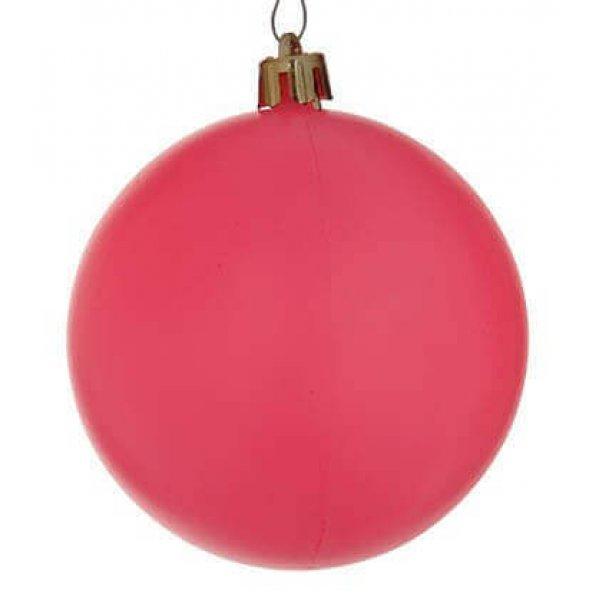Χριστουγεννιάτικη Μπάλα Ροζ - Νέον (10cm)