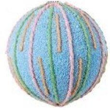 Χριστουγεννιάτικη Μπάλα Γαλάζια, με Σχέδια (8cm)