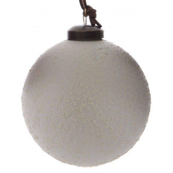 Μπάλα Λευκή, με Λευκά Ανάγλυφα Σχέδια