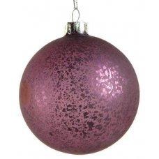 Χριστουγεννιάτικη Γυάλινη Μπάλα Μωβ, Αντίκα (10cm)