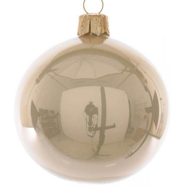 Χριστουγεννιάτικη Γυάλινη Μπάλα Οροφής Σαμπανιζέ (15cm)