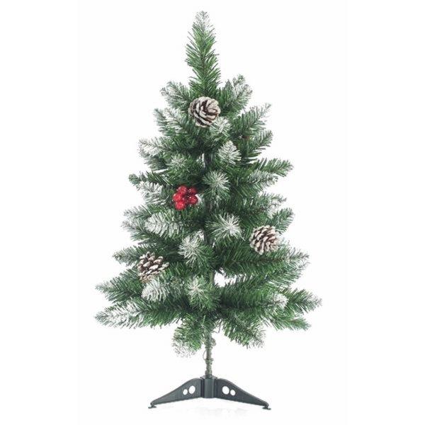 Χριστουγεννιάτικο Επιτραπέζιο Δέντρο Χιονισμένο με Κουκουνάρια και Berries (60cm)