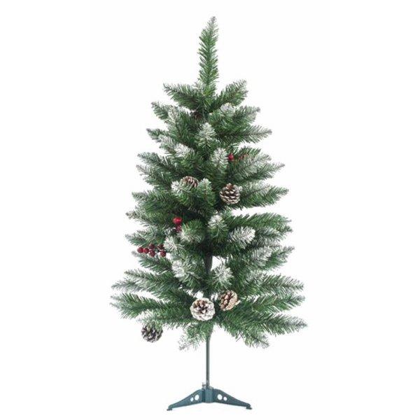 Χριστουγεννιάτικο Επιτραπέζιο Δέντρο Χιονισμένο με Κουκουνάρια και Berries (90cm)