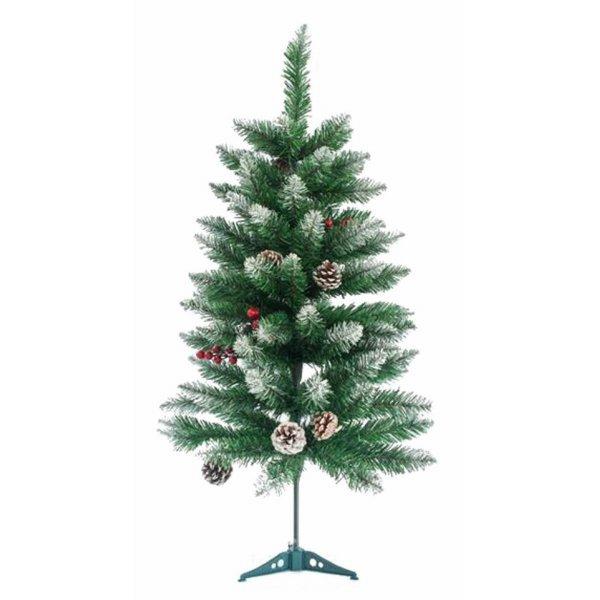 Χριστουγεννιάτικο Δέντρο Χιονισμένο με Κουκουνάρια και Berries (150cm)