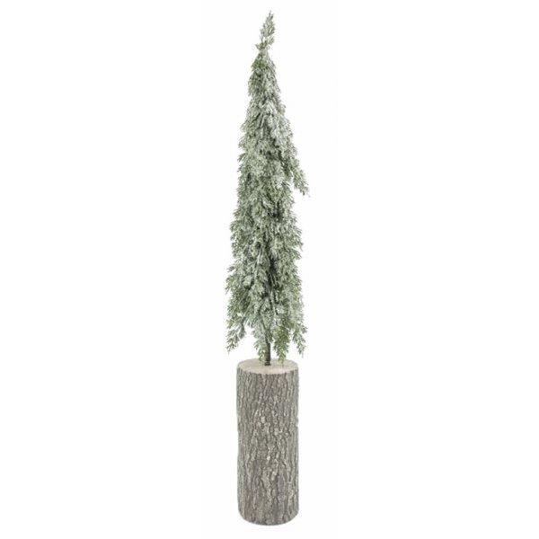 Χριστουγεννιάτικο Διακοσμητικό Κυπαρίσσι Χιονισμένο με Κορμό (85cm)