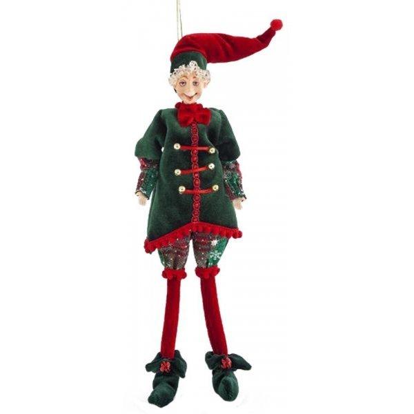 Χριστουγεννιάτικο Διακοσμητικό Ξωτικό Πράσινο (33cm)