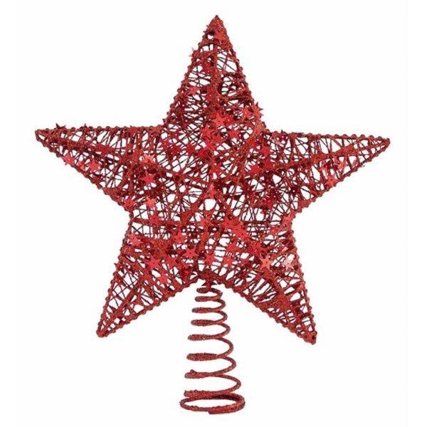 Χριστουγεννιάτικη Κορυφή Δέντρου Αστέρι Κόκκινη (30cm)