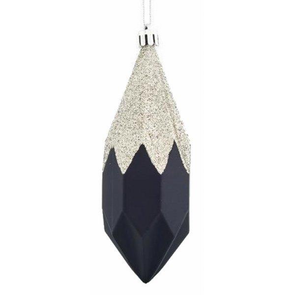Χριστουγεννιάτικo Διαμάντι Μαύρο με Στρας (13cm)