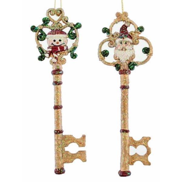 Χριστουγεννιάτικo Κλειδί Χρυσό με Φιγούρα (14.5cm)