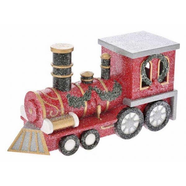 Χριστουγεννιάτικο Διακοσμητικό Τρενάκι Κόκκινο (35cm)