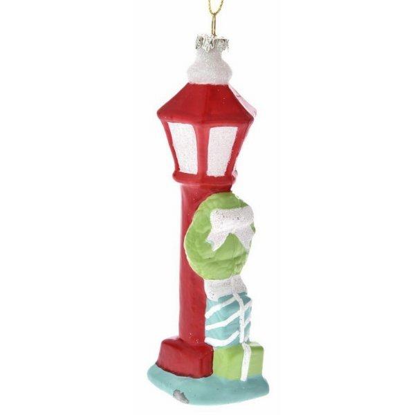 Χριστουγεννιάτικο Διακοσμητικό Φανάρι Κόκκινο (14.5cm)