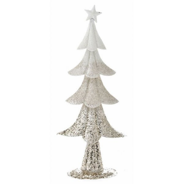 Χριστουγεννιάτικο Διακοσμητικό Μεταλλικό Δεντράκι Σαμπανιζέ (40cm)