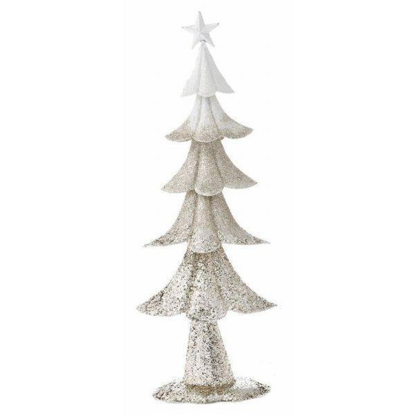 Χριστουγεννιάτικο Διακοσμητικό Μεταλλικό Δεντράκι Σαμπανιζέ (50cm)
