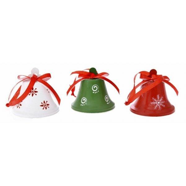 Χριστουγεννιάτικες Μεταλλικές Καμπάνες - Σετ 3 τεμ. (7cm)