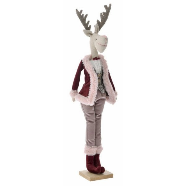 Χριστουγεννιάτικoς Διακοσμητικός Βελούδινος Τάρανδος (63cm)