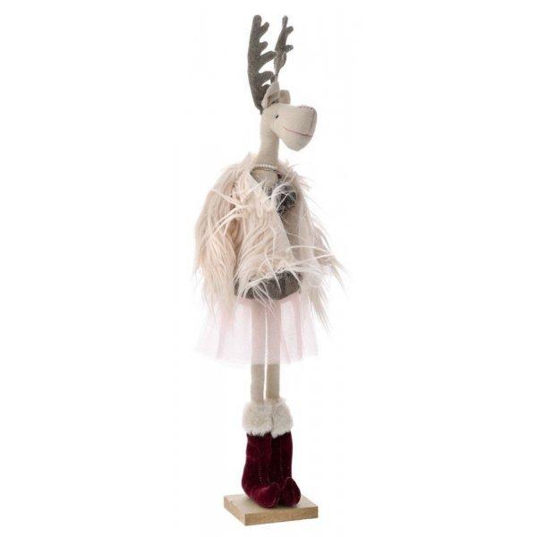 Χριστουγεννιάτικη Διακοσμητική Βελούδινη Ελαφίνα (63cm)