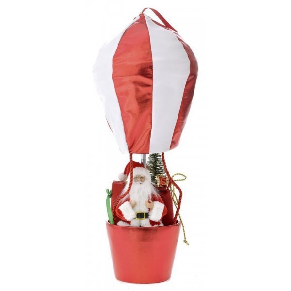 Χριστουγεννιάτικο Αερόστατο Οροφής Κόκκινο (60cm)