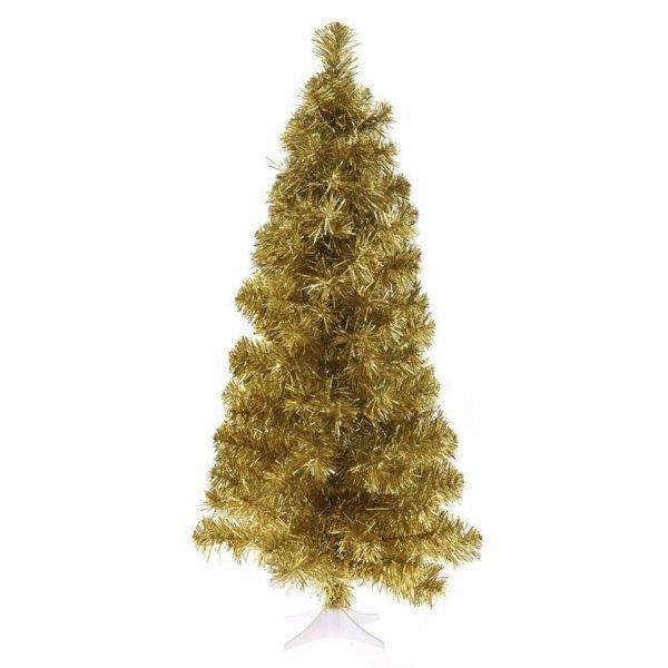 Χριστουγεννιάτικο Επιτραπέζιο Δέντρο Xρυσό Slim (75cm)