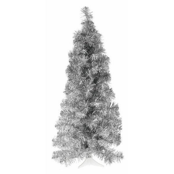 Χριστουγεννιάτικο Επιτραπέζιο Ασημί Slim (75cm)