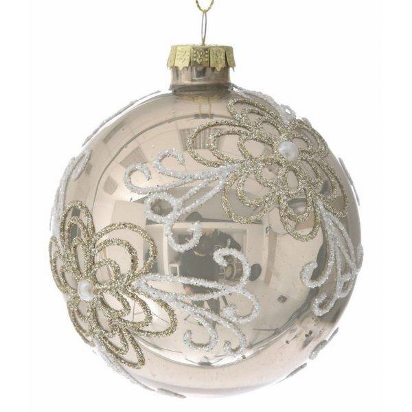 Χριστουγεννιάτικες Μπάλες Γυάλινες Χρυσές - Σετ 6 τεμ. (8cm)