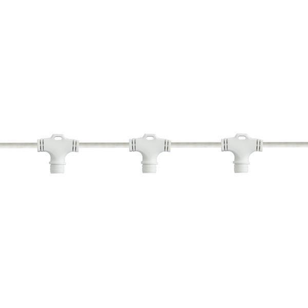 Λευκό Καλώδιο Επέκτασης με 6 Κάθετους Συνδέσμους για DIY Κουρτίνα (0.6m)