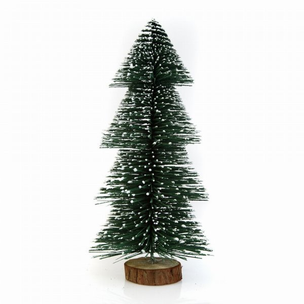Χριστουγεννιάτικo Διακοσμητικό Χιονισμένο Δεντράκι (12cm)