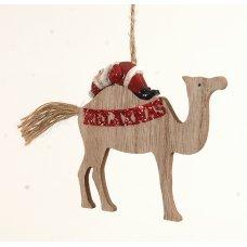 Χριστουγεννιάτικη Πολυρεζίνη Καμήλα με Άγιο Βασίλη (11cm)