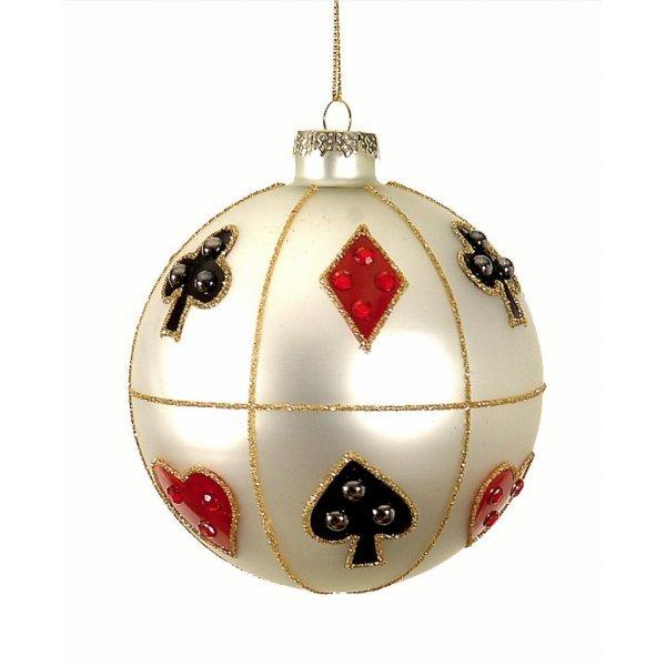 Χριστουγεννιάτικη Γυάλινη Μπάλα Ασιμή (10cm)