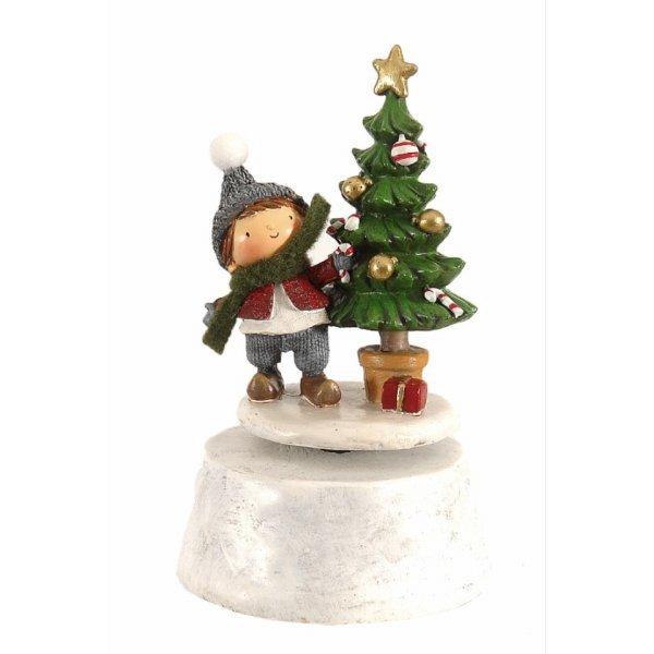 Χριστουγεννιάτικο Διακοσμητικό Δεντράκι με Ηχο Πολύχρωμο (20cm)
