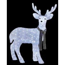 Χριστουγεννιάτικο Φωτιζόμενο Ακρυλικό Ελάφι 3D, με 330 LED (100cm)